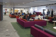 One of the many social spaces plotted around The Curzon Building.