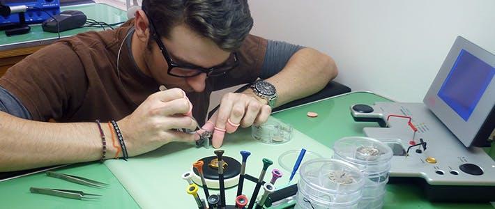 BCU Jewellery horology student.