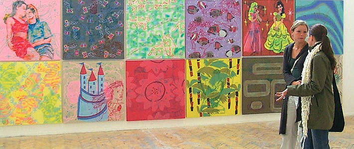 BCU艺术墙展示。