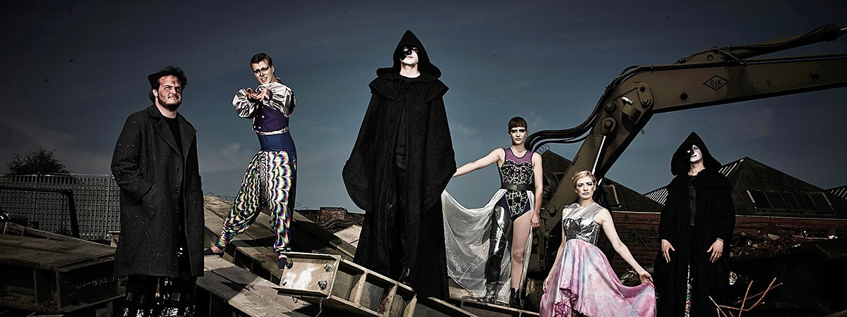 BCU Fashion & Textiles students in various designs.