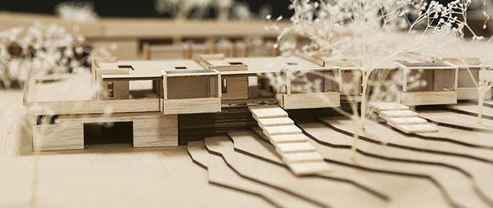 BCU Architecture Wooden Model.