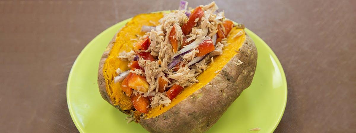 Brain food: sweet potato tuna jackets