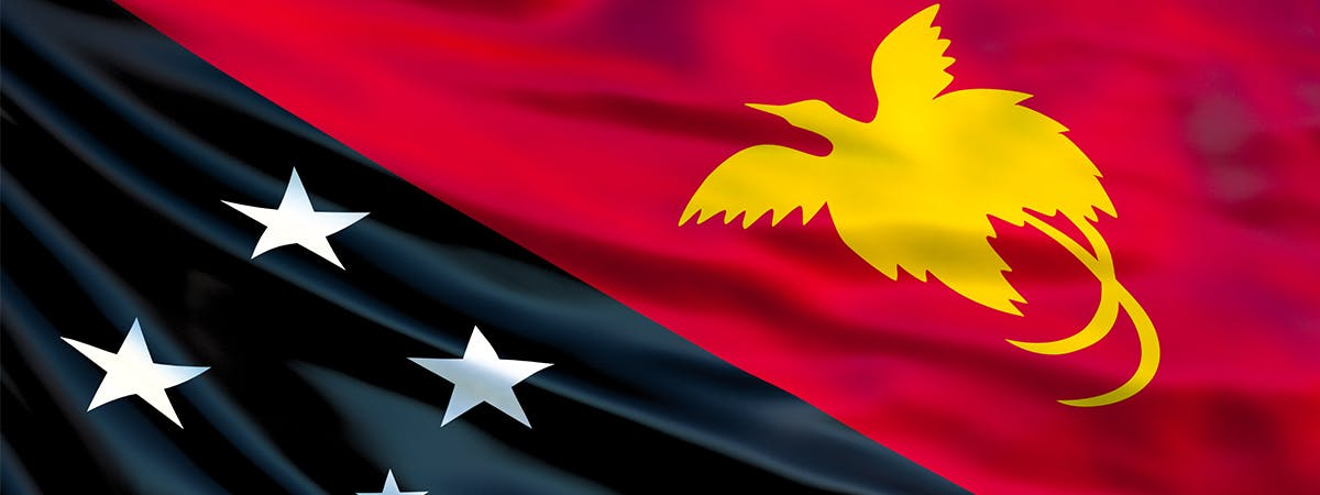 Flag of Papua New Guinea, part of the UPR Project at BCU.