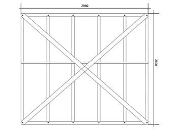 Wall panel unit frame DfMA house