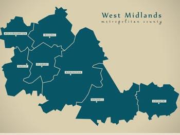 West Midlands map news